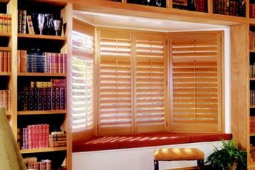 plantation shutters - natural